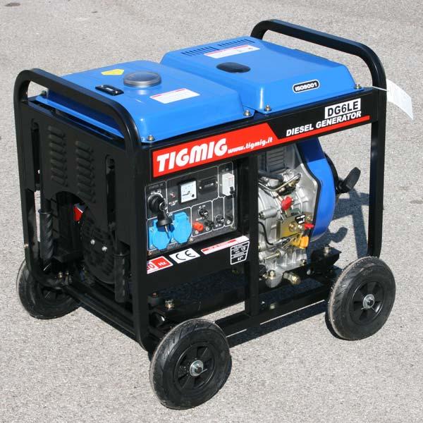 Motogeneratore generatore di corrente diesel 6 kw ebay for Generatore di corrente bricoman